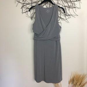 ATHLETA soft medium sleeveless midi dress. Grey